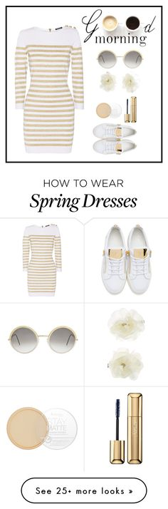 """""""Untitled #188"""" by wedad91 on Polyvore featuring Balmain, Lulu*s, Giuseppe Zanotti, Cutler and Gross, Accessorize, Rimmel and Guerlain"""