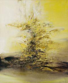 Zao Wou-ki Abstract Landscape, Abstract Art, Art Amour, Art Asiatique, Tree Art, Contemporary Paintings, Art World, Asian Art, Watercolor Art