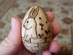 Wooden Easter eggs!