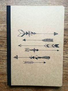 Items similar to Arrow Hand Drawn Journal on Etsy - Pfeil Tattoo Drawing Journal, Arrow Design, Doodle Drawings, Pyrography, Rock Art, Diy Art, Hand Drawn, Dream Catcher, Alphabet