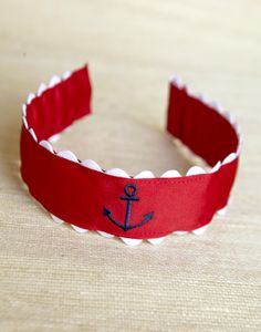 anchor headband red white and navy www.kaycehughes.com