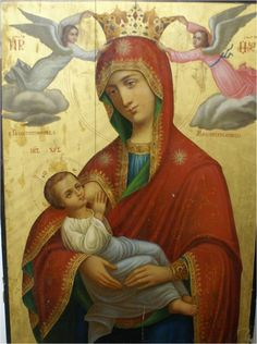 Icon Nursing Madonna or Madonna lactans