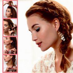 Idée coiffure pour l'été: la tresse sur le côté sur http://www.flair.be/fr/coiffures/237643/idee-coiffure-pour-lete-la-tresse-sur-le-cote