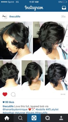 Curly Bob for black women