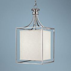 Midtown Collection Polished Nickel Square Foyer Chandelier -    Would look great in the entry way of he house