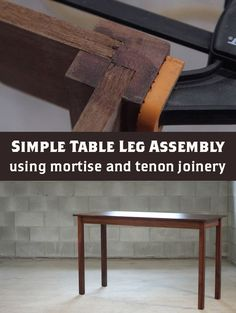 One of the simplest traditional joinery methods is the mortise and tenon. This is a fantastic join for table legs, and with a few tools it can be extremely strong. #woodworking #weekendproject