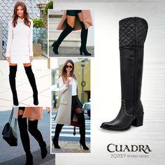 ¿Tienes las piernas largas? ¡Tenemos para ti unas botas #CUADRA a tu altura!