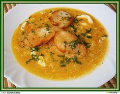 Žebra opláchneme, vložíme do hrnce s očištěnou zeleninou, přidáme koření, zalijeme studenou vodou cca 1,5l a vaříme tak dlouho, dokud nebudou... Thai Red Curry, Ethnic Recipes, Food, Essen, Meals, Yemek, Eten