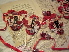 ~*Be Mine*~ Valentines Day Banner ~ Jill McCall