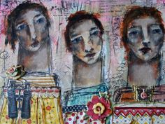 together  mixed media painting by mystele by studiothrive on Etsy, $75.00