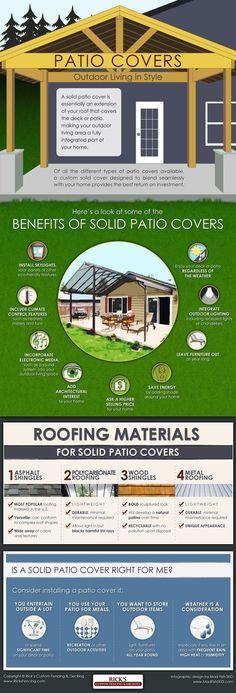 Solid Patio Covers: Outdoor Living in Style - Coverture solide Patio: la vita all'aria aperta con stile: Back Patio, Patio Roof, Backyard Patio, Pavers Patio, Patio Stone, Patio Awnings, Patio Plants, Backyard Retreat, Concrete Patio