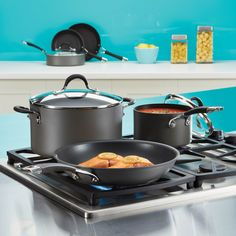 When life keeps moving, Circulon® cookware will help you roll with it. Nonstick circles cook and clean quickly. Circulon® Momentum™ available @macys