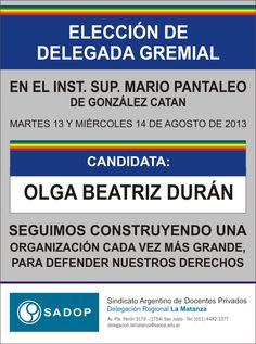 Elección de Delegada Bety Duran