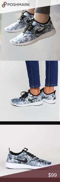 Floral Nike juvenate running shoes So so cute and unique! Just too small for me ): will post actual photos! Open to offers! Nike Shoes Sneakers