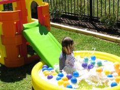 Easy ideas a back yard water park play day...Soapy Slippery Dip