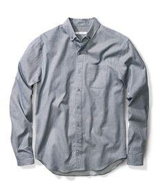 Outer Known Indigo cotton jaspé Essential Shirt