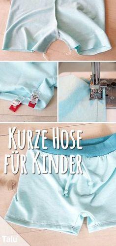 Anleitung - Kurze Hose nähen für Kinder - Talu.de