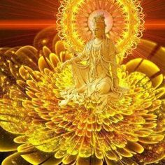 The Christ Era And The Ascension Progress In America And Europe - Guan Yin Kinds Of Energy, Ascended Masters, Guanyin, Buddhist Art, Mellow Yellow, Fantasy Art, Awakening, Meditation, Mandala