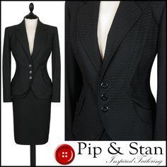 NEXT UK14 US10 BLACK PENCIL SKIRT SUIT BUSINESS WOMENS LADIES SIZE #Next #SkirtSuit #Business