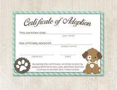 Puppy birthday, puppy themed party, puppy party, puppy adoption, adopt-a-puppy Hey, I found this really awesome Etsy listing at https://www.etsy.com/listing/239371424/puppy-party-adoption-certificates