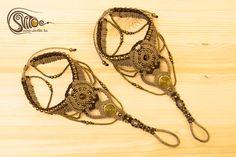"Macrame anklets ""Inca Gold"". Hand made by Elena Aki."