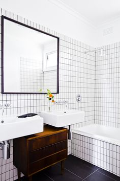 interior design, danish, mid century, bathroom, styling, industrial, tiles, mirror, whoscarmendesign