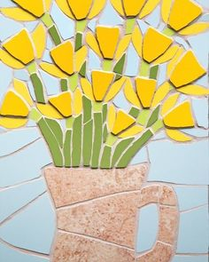 #mosaic #daffodils #flowers #spring #nature #art #artist #instaart #livethelittlethings #livecolourfully #thatdarling #colour #homedecor #homedesign