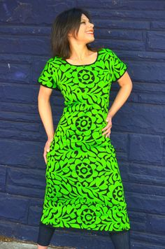 Vibrant Mexican  Hand Embroidered Dress/ Huipil / by Vtgantiques, $240.00