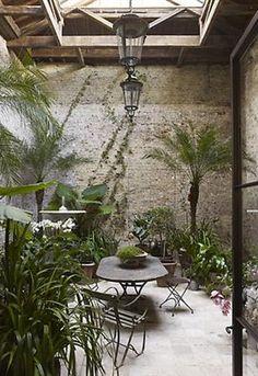 Winter Garden design by Rose Uniacke Indoor Garden, Outdoor Gardens, Home And Garden, Atrium Garden, Atrium House, Garden Gate, Indoor Plants, Outdoor Rooms, Outdoor Living