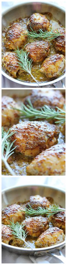 allergies to rosemary, I will omit it...This says:  Baked Honey Mustard Chicken - The creamiest honey mustard chicken ever! It's so good, you'll want to eat the mustard itself with a spoon!