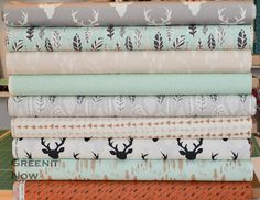 Hello Bear Collection Designer Cotton Bundle of 9 by GreenitNow