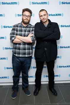 Pin for Later: Can't-Miss Celebrity Pics!  Seth Rogen and James Franco stopped by SiriusXM on Monday in NYC.