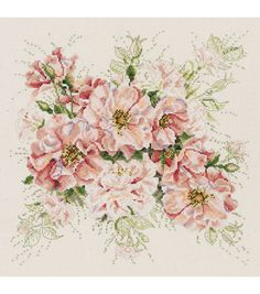 Janlynn Garden Roses Counted Cross Stitch Kit 13 x 13 makes decorating your house easy and fun. This kit includes everything you need for a wholesome stitching experience. It contains 14-count cotton