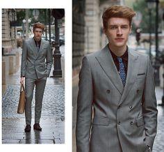 Next Tie, Merrin & Gussy The Arrow Tie Bar, George Shirt, Zara Suit, Vintage Watch, Zara Saffiano Shopper, H&M Dress Shoes