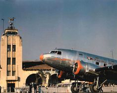 American DC-3 Flagship Tennessee NC-16005 at Grand Central Air Terminal in Glendale, CA. Notably, this ship survived and is today the oldest DC-3 in existence! | Flickr - Photo Sharing!