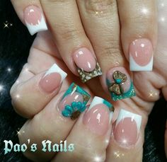 Pink & White with encapsulated design