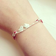 Red,Wax,Cord,Bird,Bracelet