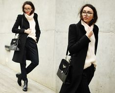 Trousers, Sweater, Bag, Shoes, Coat