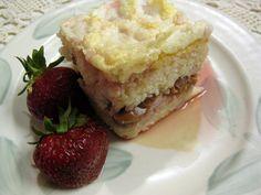 Slovak Recipes: Rice Pudding Cake (Ryžový Nákyp) top with the fruit juice and enjoy