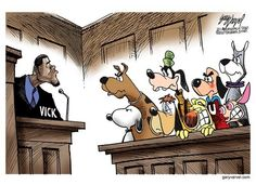 Cartoon dogs speaking up for pitbulls against Vick. Vick, but fuck you. Beach Rides, Michael Vick, Network For Good, Dog Fighting, Cartoon Dog, Cartoon Characters, Political Cartoons, All Dogs, Puppy Love