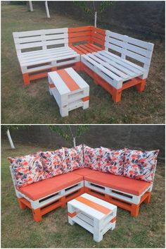 Awesome DIY Ideas for Wood Pallets Repurposing is part of Pallet furniture outdoor Awesome DIY Ideas for Wood Pallets Repurposing If some scrap pieces of the wood pallet are already left in your hom - Patio Furniture For Sale, Pallet Garden Furniture, Rustic Furniture, Diy Furniture, Outdoor Furniture, Corner Furniture, Furniture Design, Furniture Stores, Playhouse Furniture