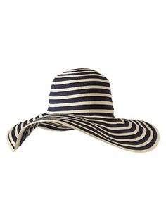 Stripe floppy straw hat Product Image
