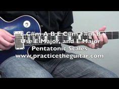 Guitar Backing Track-E Major Rock - YouTube #guitar #guitarbackingtracks #guitarlessons