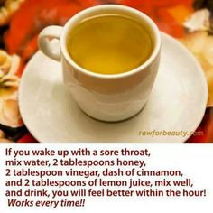 Natural cure for sore throat