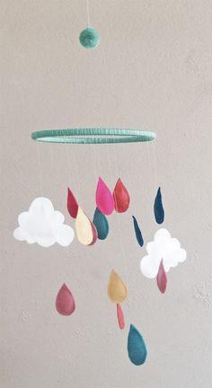 Um móbile fácil de fazer e que conta muitos pontos extras na decoração do quarto do bebê