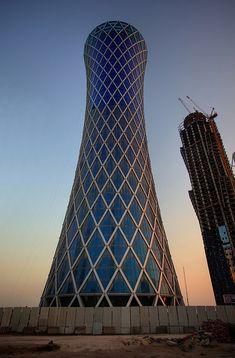 Futuristic Architecture, Tornado Tower, Doha, Qatar