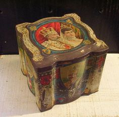 Large Antique Colmans Mustard Tin with European and Russian Royalty c 1900 - King Edward VII of England