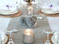 Vorweihnachtszeit Windlichter grau silberne Farbe
