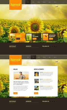 Agriculture Website Template http://www.templatemonster.com/website-templates/41877.html?utm_source=pinterest&utm_medium=timeline&utm_campaign=agr
