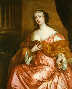 Elizabeth Hamilton, comtesse de Gramont was a British born courtier and a Dame du Palais to the consort of Louis XIV, Maria Theresa of Spain.  1663 by Peter Lely (1618-1680)
